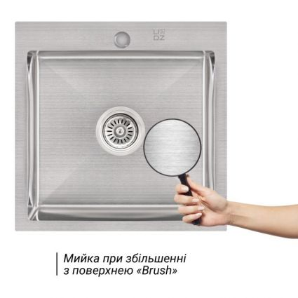 Кухонна мийка Lidz H5050 Brush 3.0/1.0 мм (LIDZH5050BRU3010) - 3