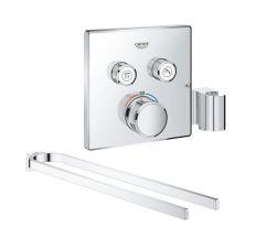 Набор Grohe внешняя часть термостатического смесителя для душа Grohtherm SmartControl 29125000 на два потребителя + полотенцедержатель Selection 41059000
