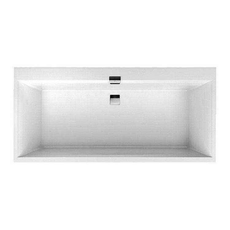 SQUARO EDGE 12 ванна 190*90см, с ножками, с комплектом слив/перелив, белый альпин - 1