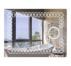 Lidz 140.08.02 зеркало настенное прямоугольное LED 700х500