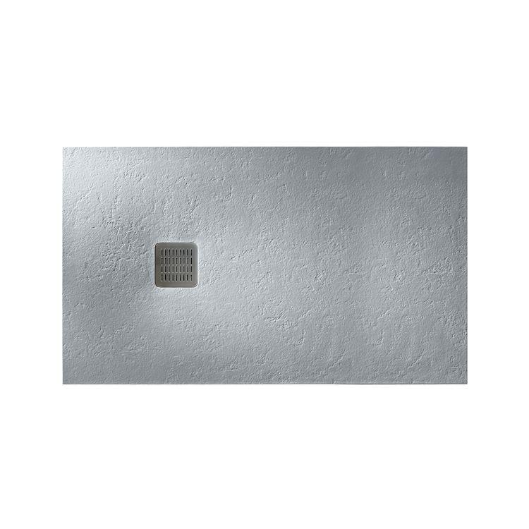 TERRAN піддон 120*80см душовою, ультраплоскій, штучний камінь Sentec, колір цемент - 1