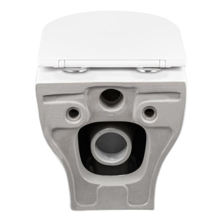 Унітаз підвісний Qtap Aries безободковый з сидінням Slim Soft-close QT0333063ERW - 13