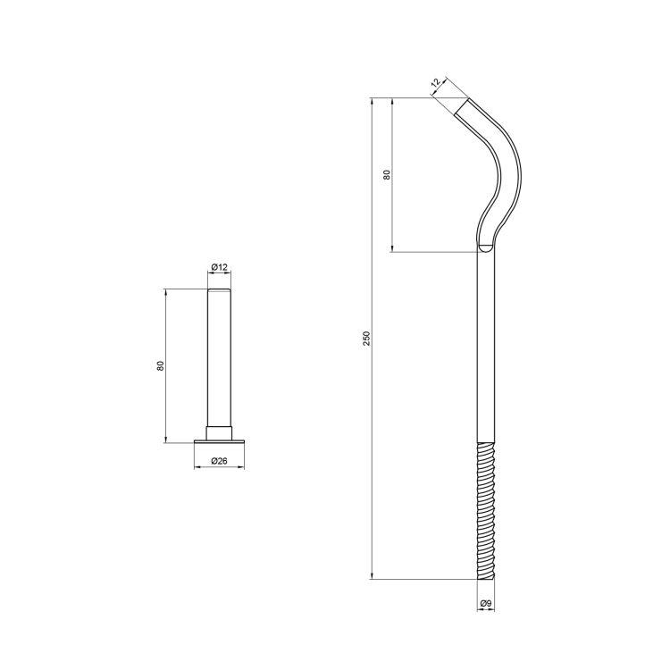 Кріплення рад. 250*8 мм арт. SD112250 - 2