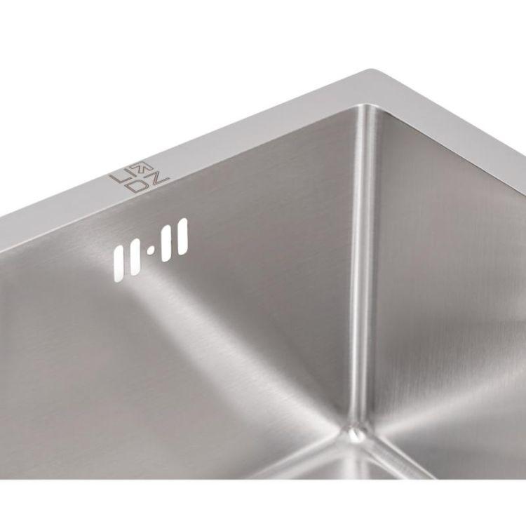 Кухонна мийка Lidz H4745 Brush 3.0/1.0 мм (LIDZH4745BRU3010) - 7
