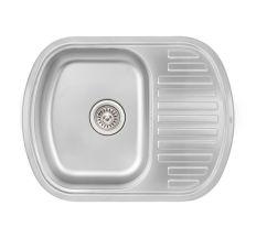 Кухонна мийка Qtap 6349 dekor 0,8 мм (QT6349MICDEC08)