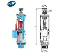 Зливний механізм 2-кнопки 3/6л NIKIPLAST 00125