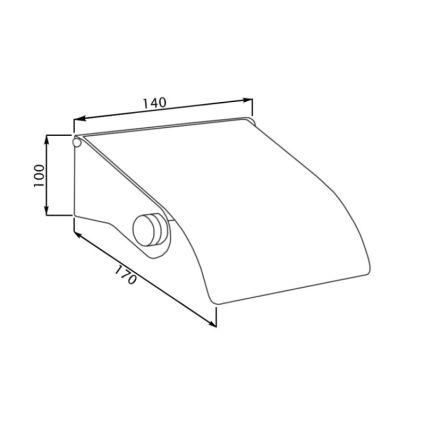 Тримач для туалетного паперу з кришкою Potato P303 - 2