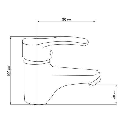 Змішувач для умивальника Touch-Z Demix 001 - 2