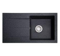 Мийка SOLID Quadro 780*435 антрацит зі штучного каменю, з сіфоном