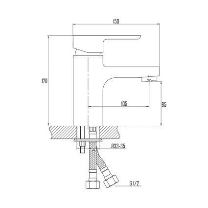 Змішувач для умивальника Q-tap Arena 001 - 2
