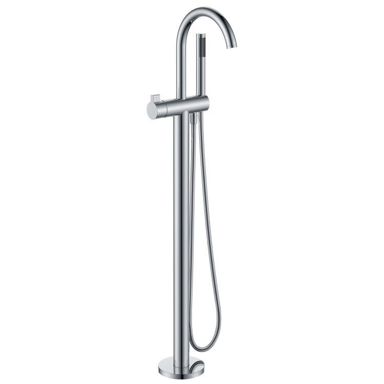 Змішувач для ванни, окремостоячий, хром, (12-33-100) - 1