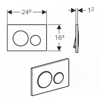 Sigma20 Смывная клавиша, двойной смыв, белый/позолота/белый - 2