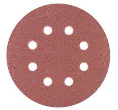 Шлифовальный круг 8 отверстий Ø125мм P80 (10шт) Sigma (9122651)