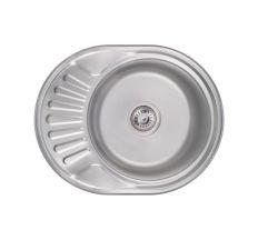 Кухонна мийка Lidz 5745 (6044) Satin 0,6 мм (LIDZ574506SAT)