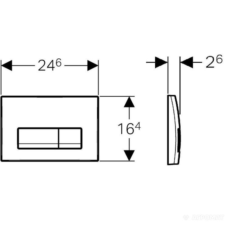 DELTA 51 змивна клавіша, подвійний змив, чорний RAL 9005 - 2