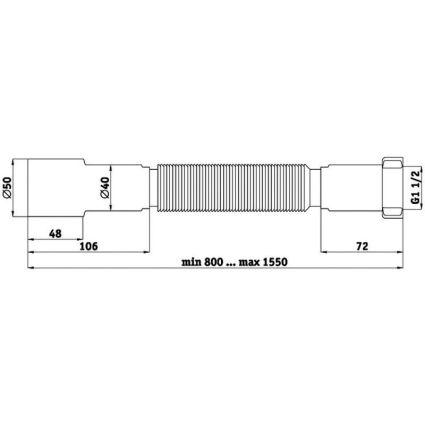 Гофросифон К116 ⌀40*50 труба гнучка - 2