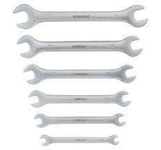 Ключі ріжкові 6шт 6-17мм CrV satine Sigma (6010311)