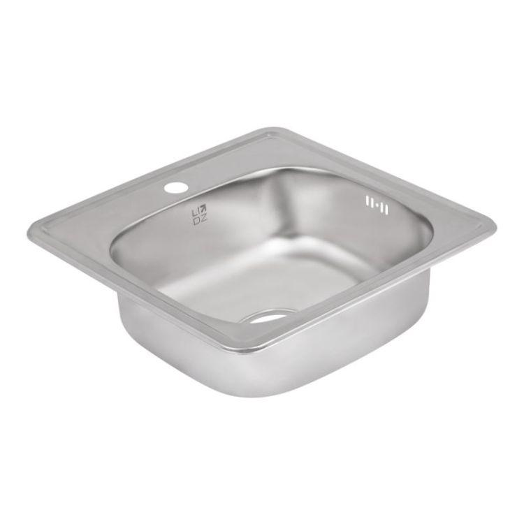 Кухонна мийка Lidz 4848 Decor 0,6 мм (LIDZ4848DEC06) - 4