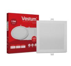 Светильник светодиод 12W 1-VS-5204 LED врезной квадратный Vestum 4000K 220V
