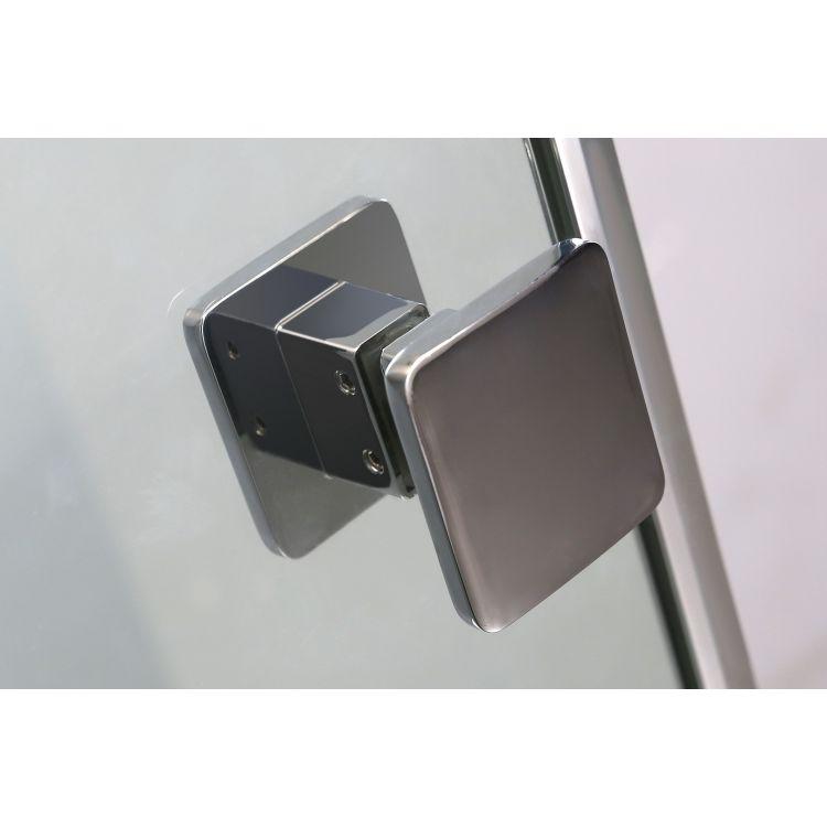 BENITA душова кабіна квадратна 900*900*2000мм, піддон (PUF) 5 см (з сифоном),ліва, орні, профіль хром, прозоре скло - 6