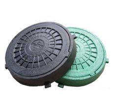Люк-міні канализаційний зелений круглий ф315мм