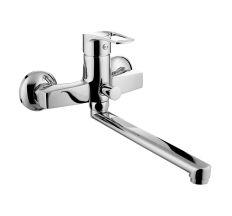 LIDICE смеситель для ванны,L-излив 23 см, хром, 35 мм