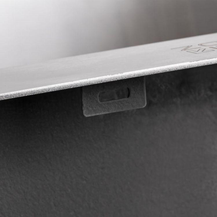 Кухонна мийка Lidz H5045 Brush 3.0/1.0 мм (LIDZH5045BRU3010) - 8