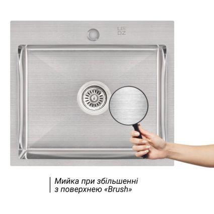 Кухонна мийка Lidz H5045 Brush 3.0/1.0 мм (LIDZH5045BRU3010) - 3