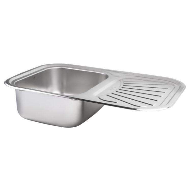 Кухонна мийка Lidz 7549 dekor 0,8 мм (LIDZ7549MICDEC) - 3