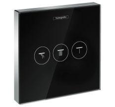ShowerSelect Модуль з трьома запірними клапанами, скляний, чорний/хром