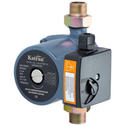 Насос циркуляційний 65Вт Hmax 4м Qmax 63л/хв Ø1 130мм + гайки ؾ Katran (774511) - 1