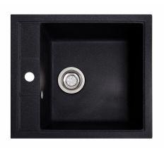 Мийка SOLID Brizz 460*515 чорний зі штучного каменю, з сіфоном