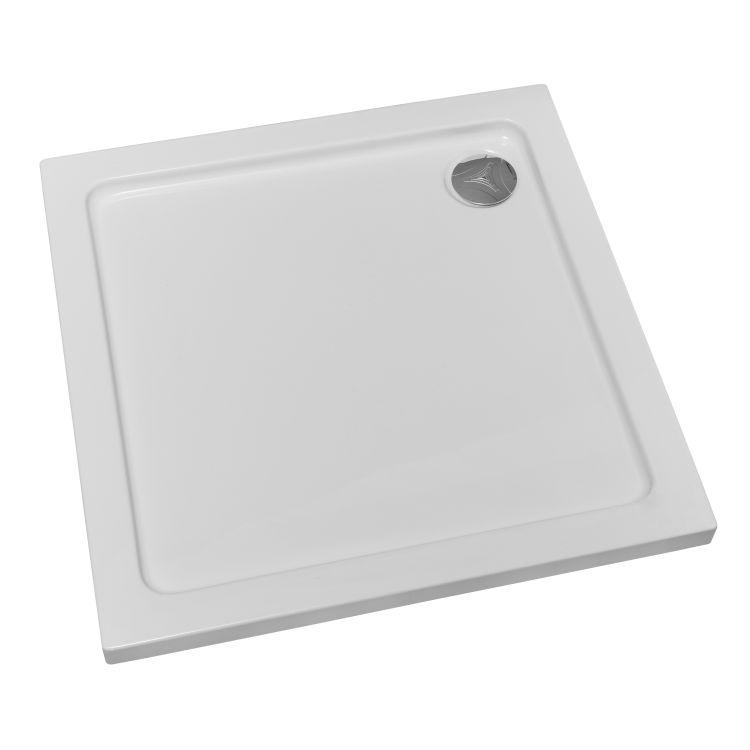 RUDAS душова кабіна квадратна 90*90*205 см, піддон (PUF) 5 см (з сифоном), орні, скло прозоре, права - 6
