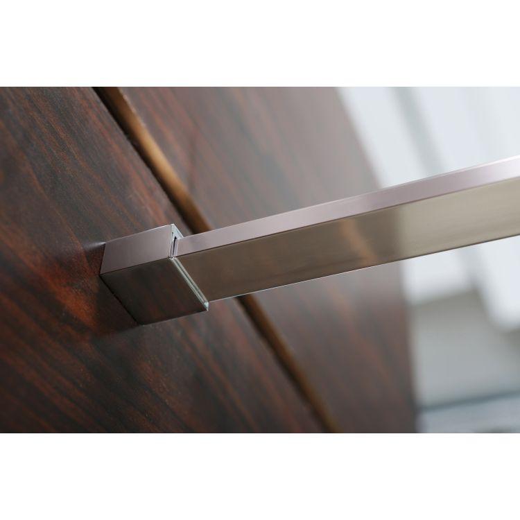 Комплект Walk-In: Стінка 100*190см прозоре скло 8мм + стіновий Профіль хром 190см+Тримач скла (D) з кріпленнями 100см - 6