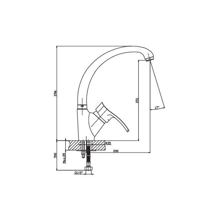 Змішувач для кухні HAIBA Focus 011 - 2