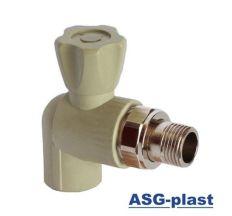 кран радиаторный угловий без резинки ASG 25