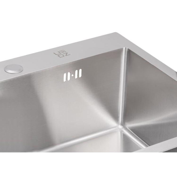 Кухонна мийка Lidz H5050 Brush 3.0/1.0 мм (LIDZH5050BRU3010) - 7