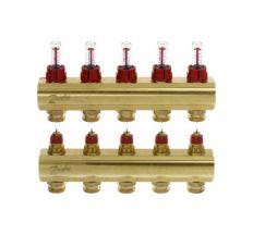Колектор з витратомірами Danfoss FHF на 5 виходів (088U0525)