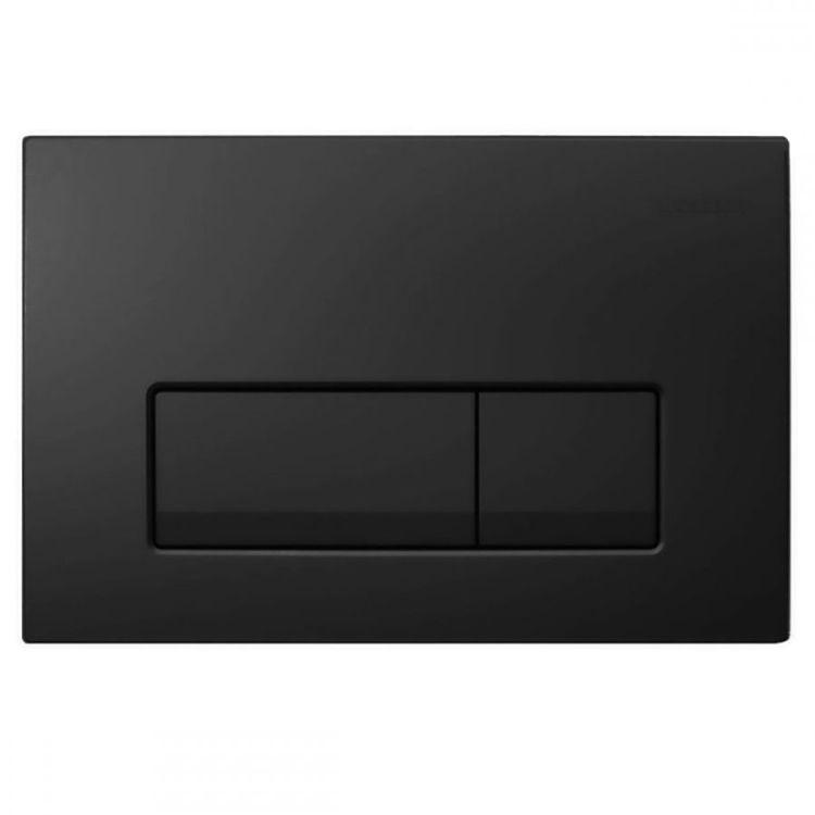 DELTA 51 змивна клавіша, подвійний змив, чорний RAL 9005 - 1
