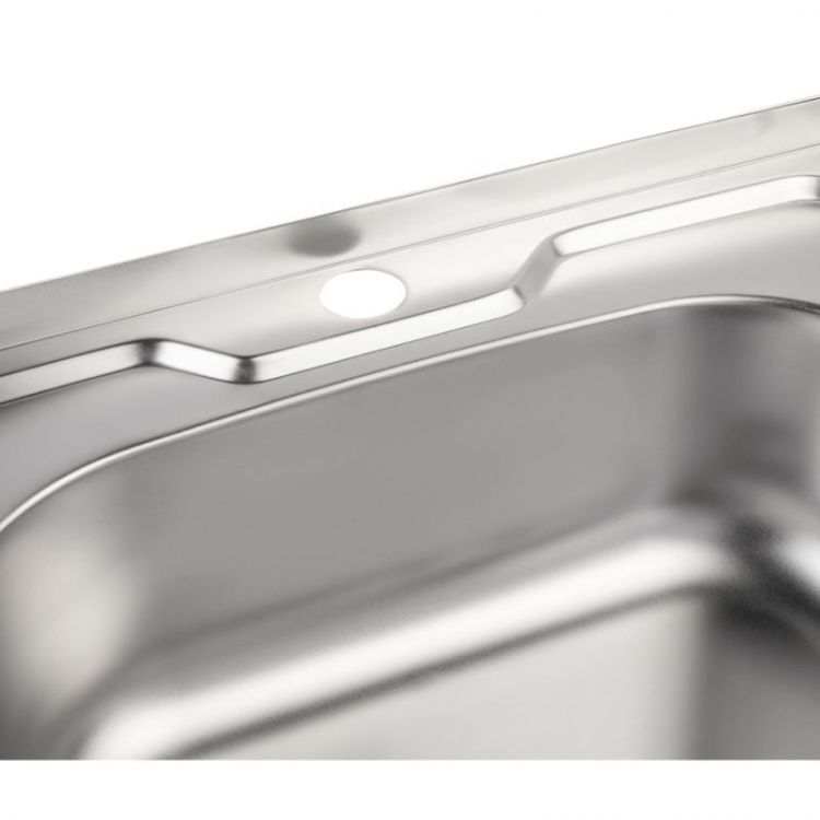 Кухонна мийка Lidz 5050 Satin 0,6 мм (LIDZ5050SAT06) - 6