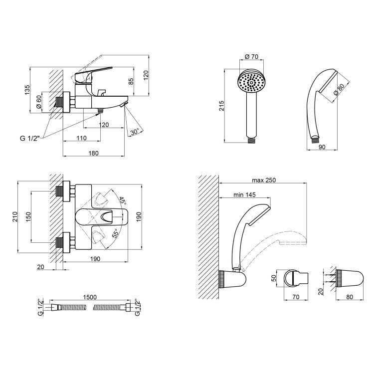 Змішувач для ванни Q-tap Jody 006 New - 2