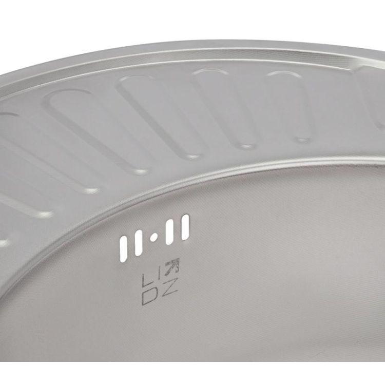 Кухонна мийка Lidz 5745 dekor 0,8 мм (LIDZ5745MDEC) - 6