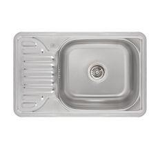 Кухонна мийка Lidz 6642 Satin 0,8 мм (LIDZ664208SAT)