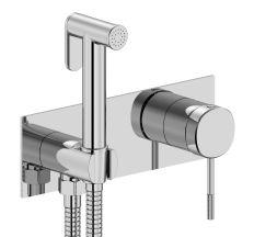 BRENTA набір: змішувач прихованого монтажу з гігієнічним душем, хром