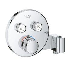 Внешняя часть термостатического смесителя для душа со встроенным переключателем на 2 потребителя Grohe Grohtherm SmartControl 29120000