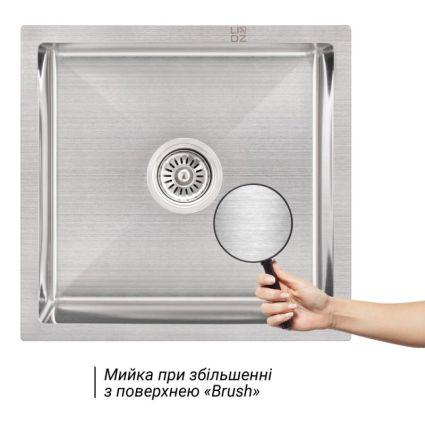 Кухонна мийка Lidz H4745 Brush 3.0/1.0 мм (LIDZH4745BRU3010) - 3