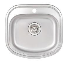 Кухонна мийка Qtap 4947 dekor 0,8 мм (QT4947MICDEC08)