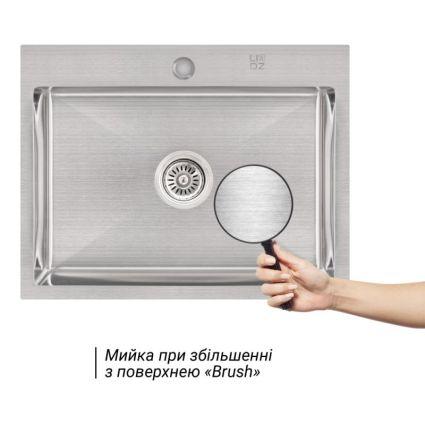 Кухонна мийка Lidz H5845 Brush 3.0/1.0 мм (LIDZH5845BRU3010) - 3