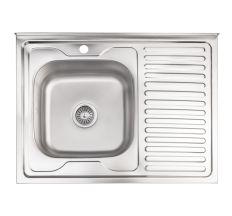 Кухонна мийка Lidz 6080-L Decor 0,8 мм (LIDZ6080LDEC08)