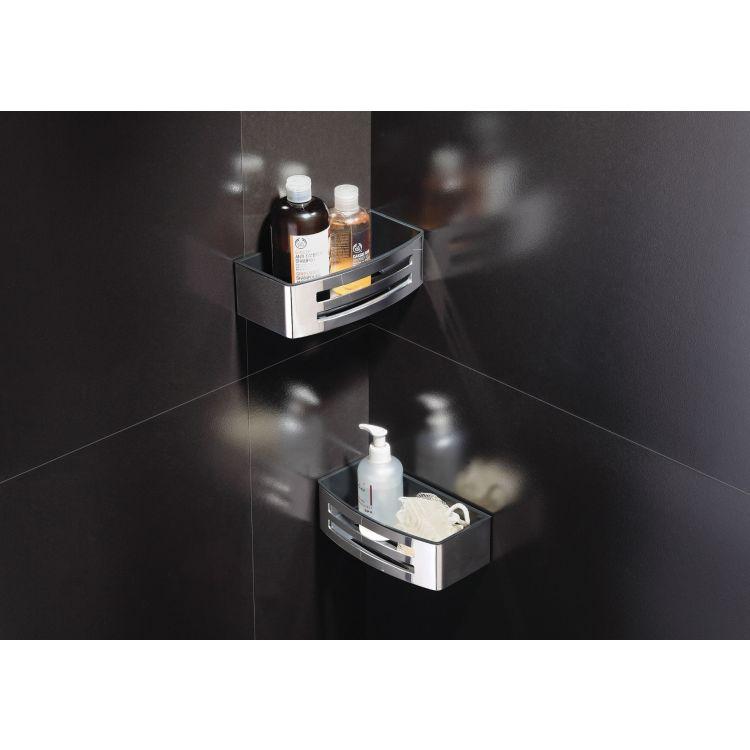 TEO настінна душова поличка хром, з пластиковою вставкою Graffit - 3